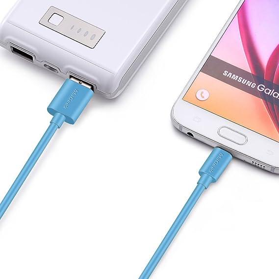 MaGeek® [Pack de 3] 0.9m Cables Micro USB Sincroniza y Carga para Samsung, HTC, Sony, Motorola, LG, Google, Nokia etc.(Azul): Amazon.es: Electrónica