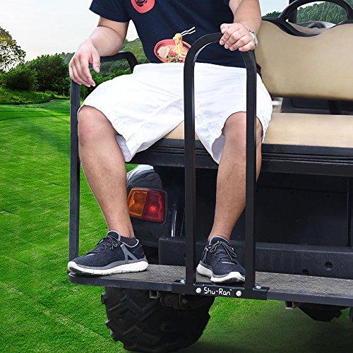 AW Golf Cart Rear Seat Safety Grab Bar Hand Rail Club Car EZGO Yamaha Universal Black by AW (Image #3)