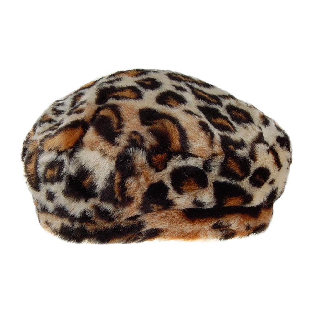 Barts Hats Astilbe Faux Fur Beret Leopard