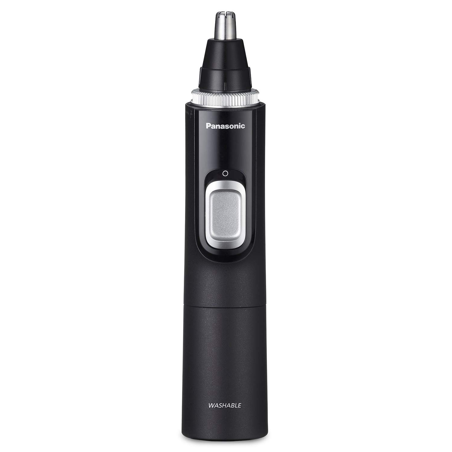 Panasonic Men's Ear and Nose Hair Trimmer with Vacuum Cleaning System - Wet Dry Hypoallergenic High-Performance Dual Edge Blade - ER-GN70-K (Black) by Panasonic