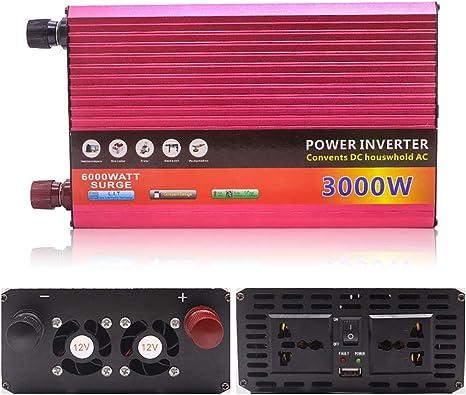 Wechselrichter 12v wechselrichter 230v,1500W DC 12V zu AC 230V Auto Wechselrichter Konverter Dual USB Charger Adapter