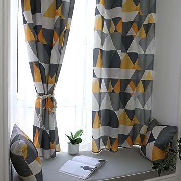 Gardinen Und Vorhänge Vorhang Kurz Vorhänge Blickdicht Blau Gelb