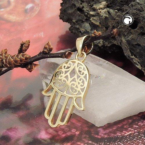 Pendant 431422 - Symbol Hand Of Fatima 9ct Gold 9AogtJ