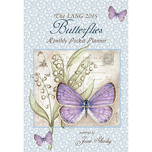 Lang January 2015 to January 2016 4.25 x 6.5 Inches, Perfect Timing Butterflies Monthly Pocket Planner by Jane Shasky (1003144)
