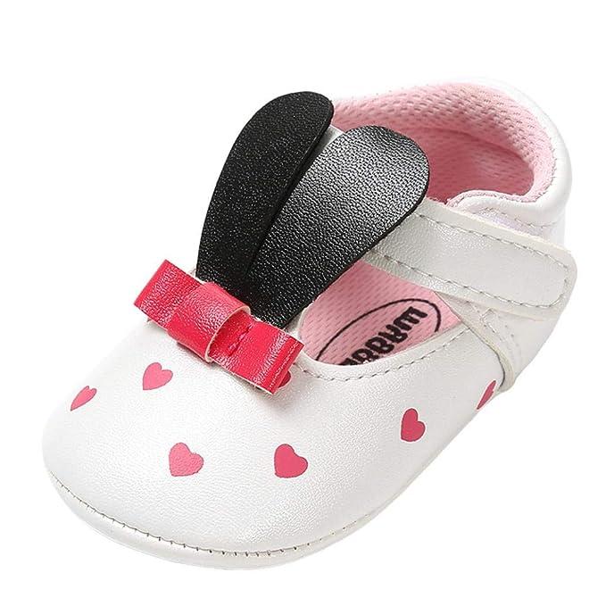 Zapatos de bebé, ASHOP Niña Niño Casuales Zapatillas del Otoño Invierno Suela Orejas de Conejo