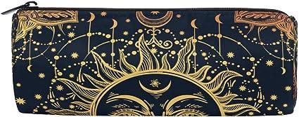 Linomo - Estuche étnico tribal para lápices con diseño de sol, luna, estrella, para la escuela y la oficina de los niños: Amazon.es: Oficina y papelería