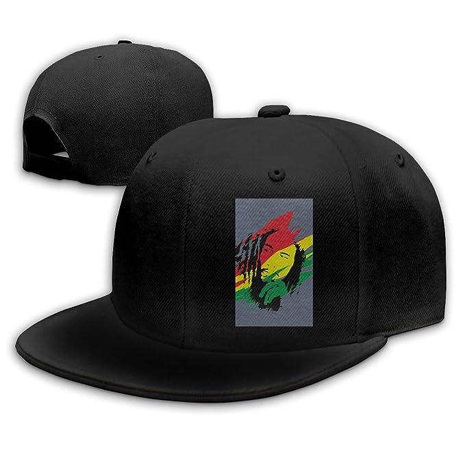 Hot Bob Marley, Gorra de béisbol Plana con Visera para papá ...