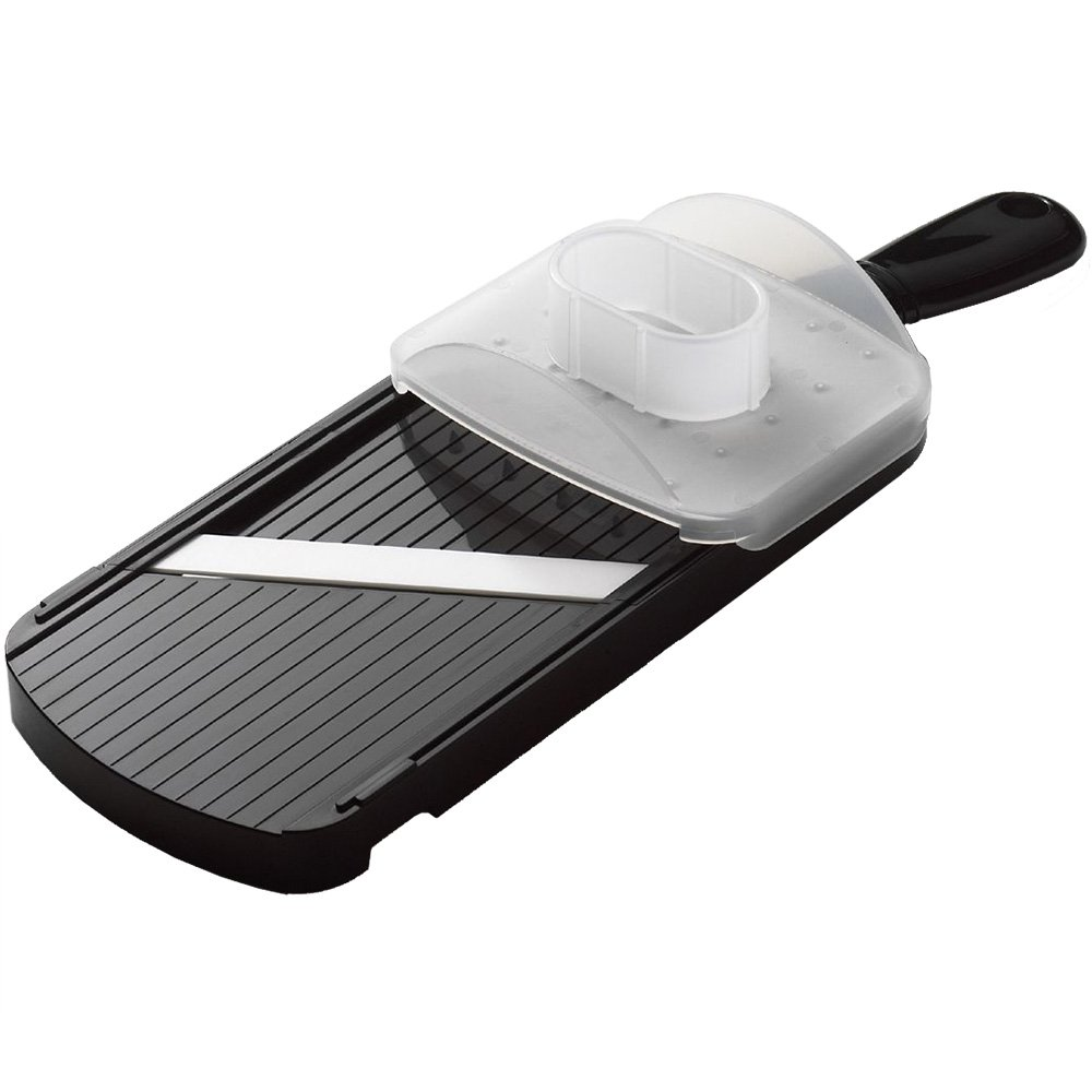 Kyocera Advanced Ceramic Double-edged Mandolin Slicer With Guard, Black