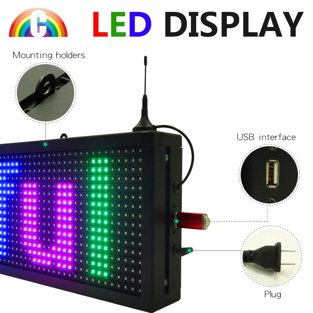 CT Colorful P10 Outdoor WiFi Scrolling Texts Messages Board led Sign by Color Trade (Image #3)