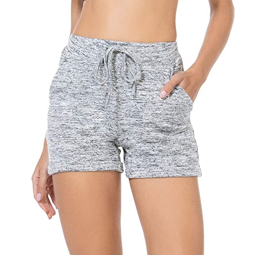 02623a2946 ZEALOTPOWER Lounge Shorts Women Sleep Comfy Elastic Waist with Pockets  Drawstring Running