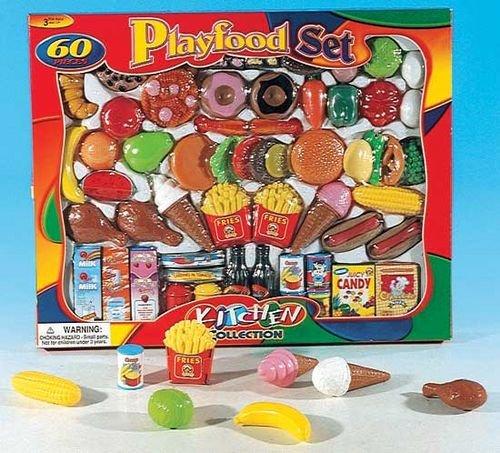 Einkaufskorb Zubehör Kaufladen Kinderküche Kaufmannsladen gefüllt Korb Spielzeug