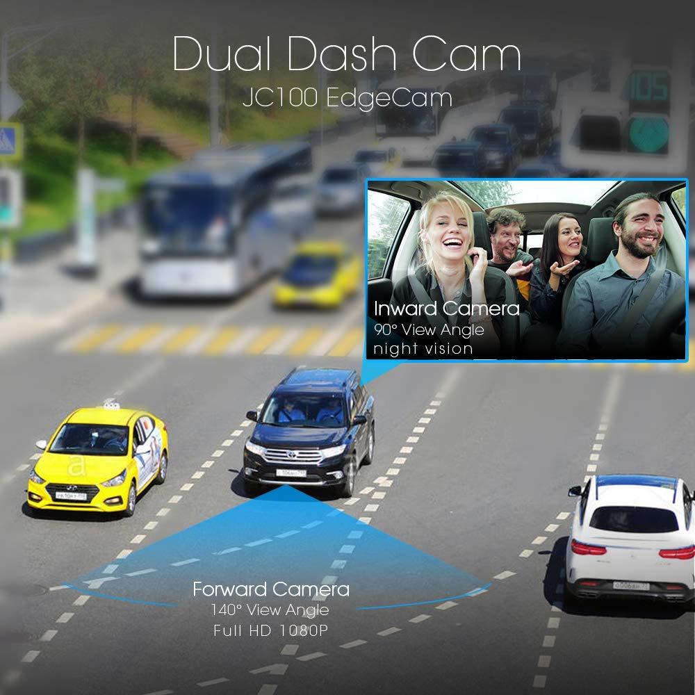 Dual Dash Cam Dashboard Camera 3G WiFi Dash Cam JimiIoT JC100 GPS Dash Cam  Dashboard Cam for cars Dual Dash Camera Recorder-16GB TF Card Free |Live