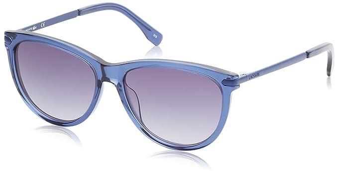 Lacoste Cat Eye, Gafas de Sol para Mujer, Azul (BLU), 56: Amazon.es: Ropa y accesorios