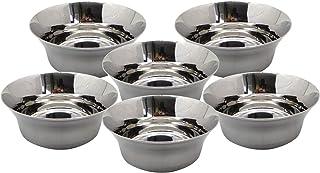Whopperindia Lot de 6Bol en acier inoxydable pour maison/cuisine Utilisation pour bonbons, ingrédients, ou Multi Usage