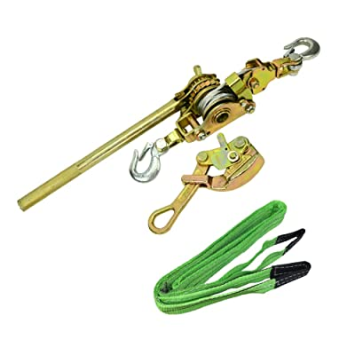 "CTSC Zip Line Tensioning Kit - Zipline Installation Kits For Backyard With Heavy Duty Ratchet With Winch, Cable Grip For 3/16"" To 3/4"" Lines & Protective Tree Sling - Ultimate Zip Lines Tensioner Gear: Toys & Games"