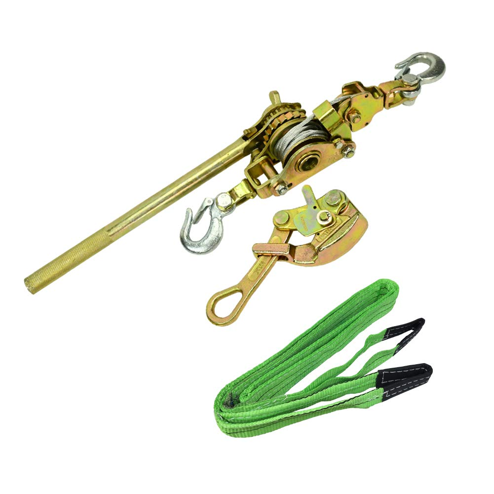 CTSC Zip Line Tensioning Kit - Zipline Installation Kits For Backyard With Heavy Duty Ratchet With Winch, Cable Grip For 3/16'' To 3/4'' Lines & Protective Tree Sling - Ultimate Zip Lines Tensioner Gear by CTSC