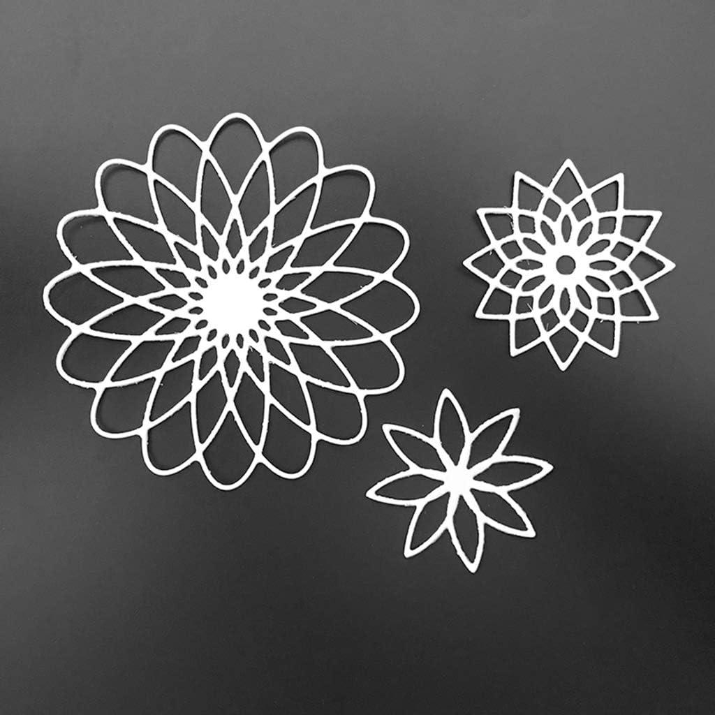 qingqingR Acero al Carbono Dibujos Animados Flores Troqueles de Corte Plantillas de Plantillas en Relieve Molde DIY Papel Arte Craft Scrapbook Marcador Tarjeta Decoraci/ón