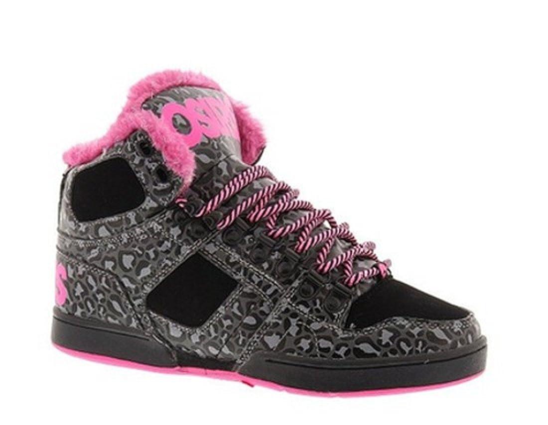 a40cd4d6ab Osiris NYC 83 Shearling Shoes - Black / Pink / Cheetah - UK 5:  Amazon.co.uk: Shoes & Bags