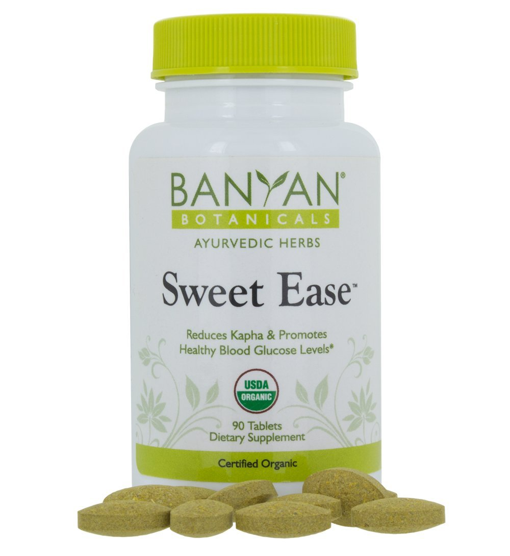 Banyan Botanicals Sweet Ease - Certified Organic, 90 Tablets - Reduces Kapha and Promotes Healthy Blood Glucose Levels
