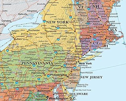 Amazoncom X United States USA US Classic Elite Push Pin - Us wall maps for sale