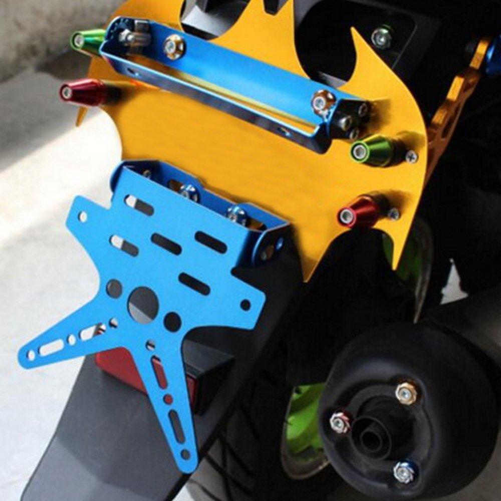 PolarLander Regolabile Regolamento del Motociclo Registratore di Registrazione Targa Supporto Universale Viola
