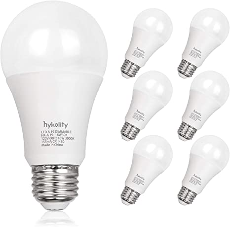 Amazon.com: Hykolity 100W Equivalente A19 Bombilla LED, 16W ...