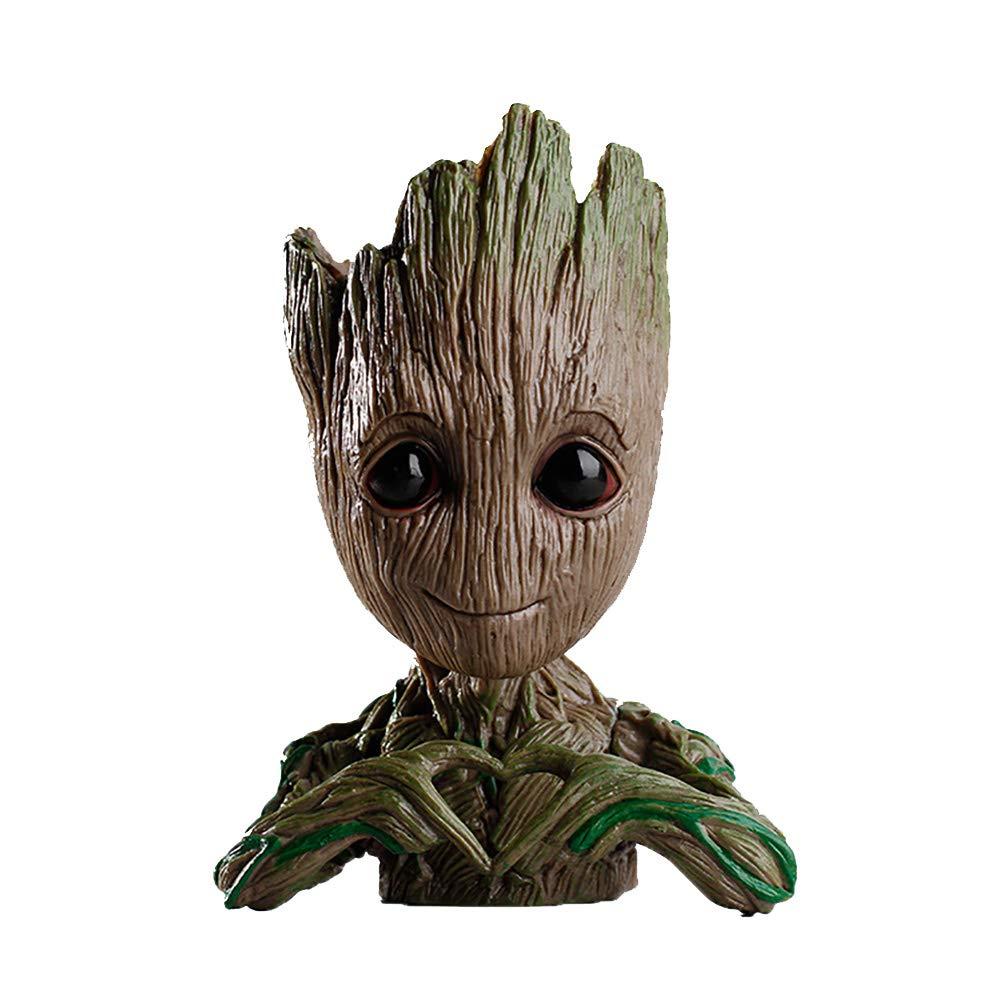 Flowerpot Treeman,Baby Groot Planter,Cute Green Plants Flower Pot,Pen Holder,Pencil Holder,Office Organizer,Guardians of The Galaxy Groot Pen Pot