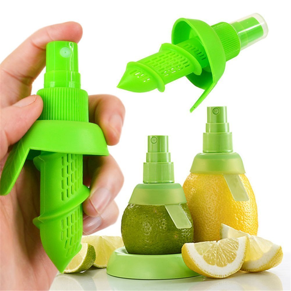 DierCosy 2Pcs Citrus Lemon Orange Salad Fruit Juice Sprinkling Extractor Juicer Sprayer Green