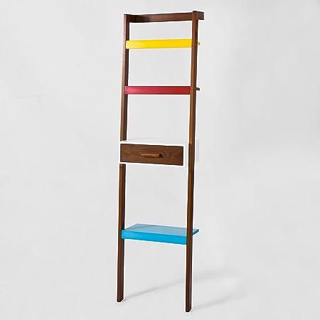 SoBuy® — Estantería de escalera, estante para CD, para libros, con cajón, multicolor, FRG158-F, IT: Amazon.es: Hogar