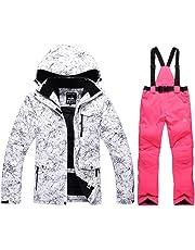 Fashion Women s High Waterproof Windproof Snowboard Colorful Printed Ski  Jacket and Pants c20e1f9c3