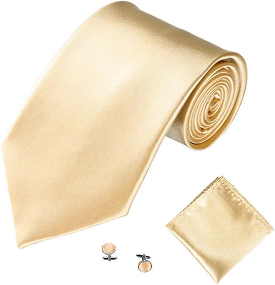 Cravatta Cravatta da Uomo a Tinta Unita Rosa Rosa YUnnuopromi Set di Cravatte