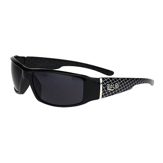 9fac849c699 Locs Mens Cholo Gangster 90s Narrow Rectangular Warp Biker Sunglasses Mesh  Arm