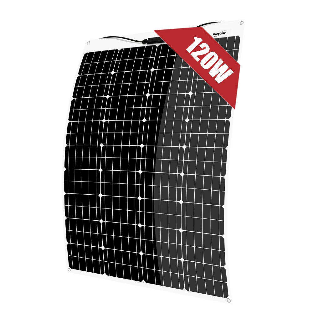 Roofs for RV Ultra Thin 1000 Watt 12 Volt Flexible Monocrystalline Solar Panel Ultra Lightweight Boats Tents,Uneven Surfaces,Home Off Grid System for 12V 24V Battery Charging