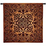 Fine Art Tapestries Iron Work Wall Tapestry 2888-WH 53 inches wide by 53 inches long, 100% cotton