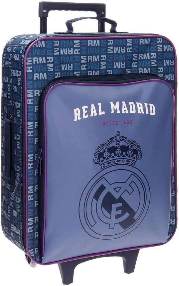 Real Madrid 5649051 Basic Equipaje Infantil, 52 cm, 26 litros, Multicolor
