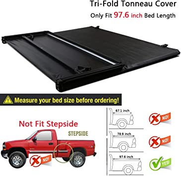 Amazon Com Raftudrive Assembly Lock Tri Fold Tonneau Cover Fit 2015 2019 Ford F150 8 Ft 97 6 Inch Bed Not Fit 5 5 Ft And 6 5 Ft Bed Automotive