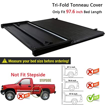 Ford F150 Bed Size >> Amazon Com Raftudrive Assembly Lock Tri Fold Tonneau Cover Fit 2015