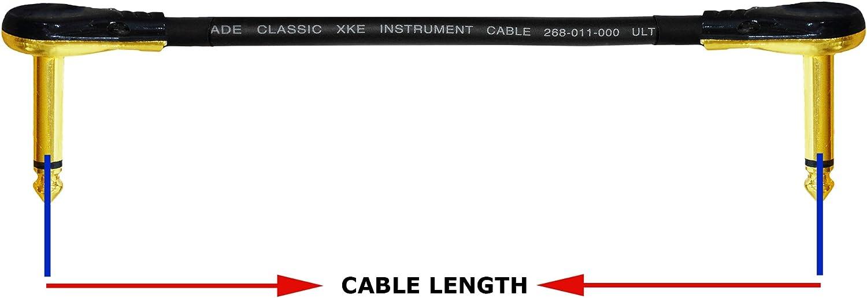 /mit Premium vergoldet, /Van Damme Pro Grade Classic XKE/ /geschirmt Gitarre Bass Effekte Instrument /PREMIUM /45,7/cm 5/ / Patch-Kabel/ 45/cm ultraflexibel Multi/