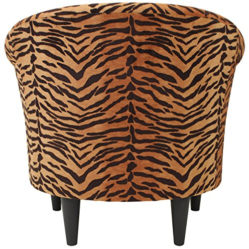 Parker Lane uch-nik-pon1 Safari Club Chair, Tiger Print - 3