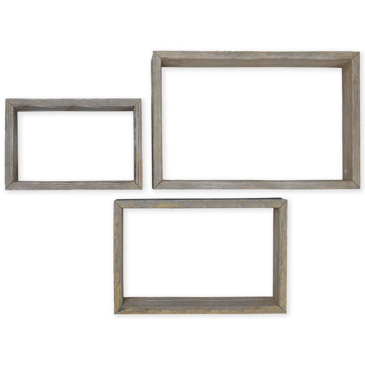 Ekena Millwork DECR18SBRTOBGY Shadow Box Shelves, Reclaimed Grey