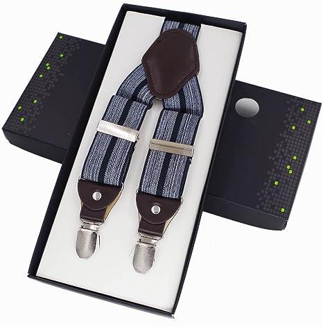 altamente elogiato vendite all'ingrosso scegli l'autorizzazione LLZGPZBD Bretelle/Moda Uomo Bretelle 4 Clip Bretelle ...