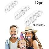 Yidarton Lot de 12 Ouvre la Bouche Mâche mots Jeu Écarteur Bouche Dentaire Pour Le Amuse Jeux de Societes (Blanc-12PC-4S+4M+4L)