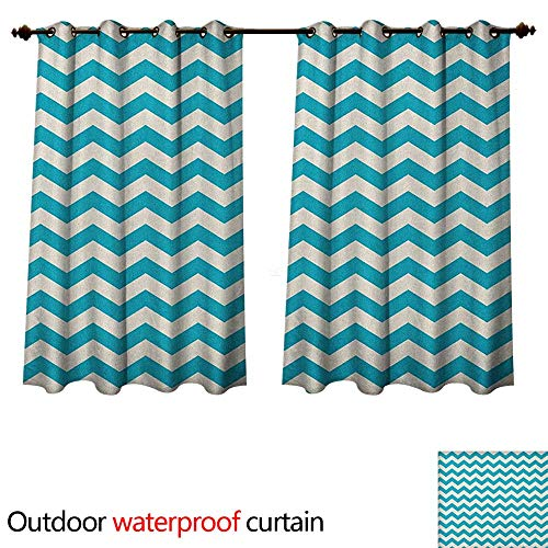 aviolet Protective Curtains Abstract Geometric Stripes with Chevron Zigzag Arrangement Vintage Inspirations W108 x L72(274cm x 183cm) ()