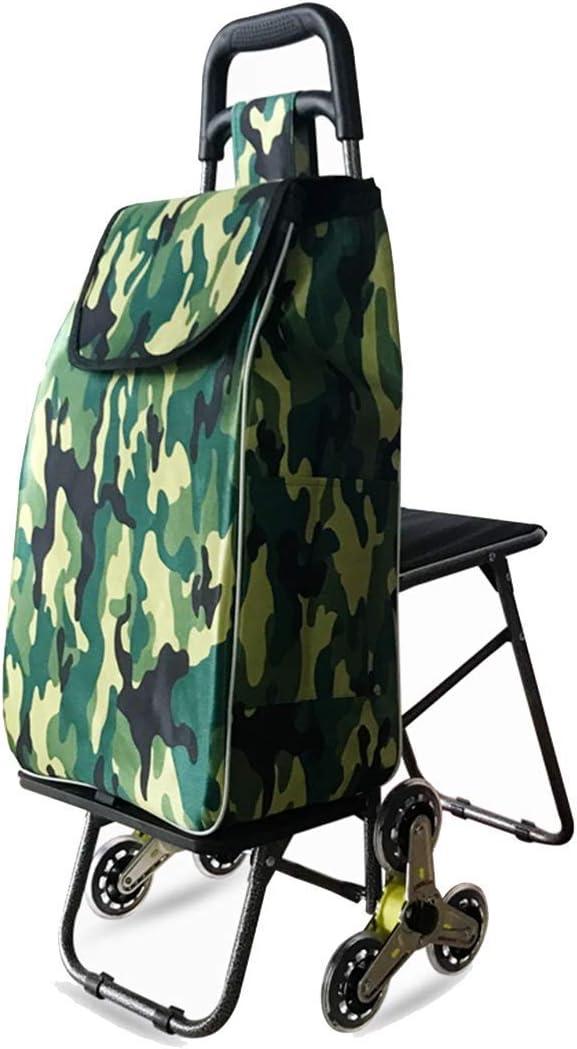 WGWポータブルピクニックバッグ、座席取り外し可能な防水バッグトロリー付き折りたたみ式ショッピングカート