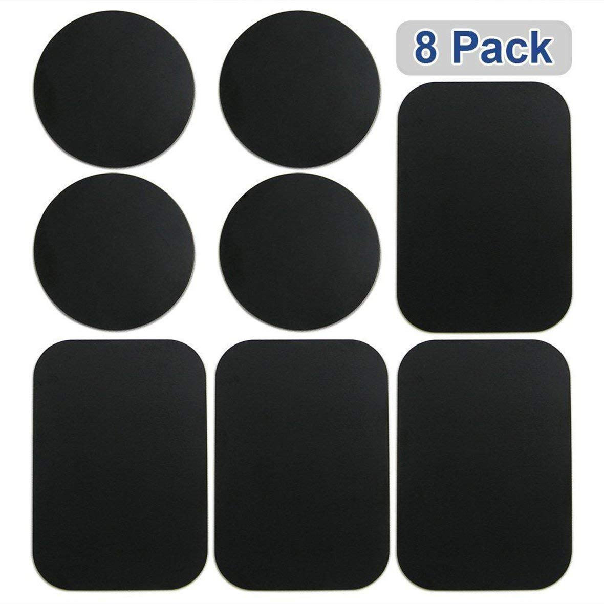 Tivolii 8pcs Metal Plates Sticker Car Mount Replace Metal Adhesive Plate for Magnetic Phone Car Holder Super Thin Steel Insert Plate