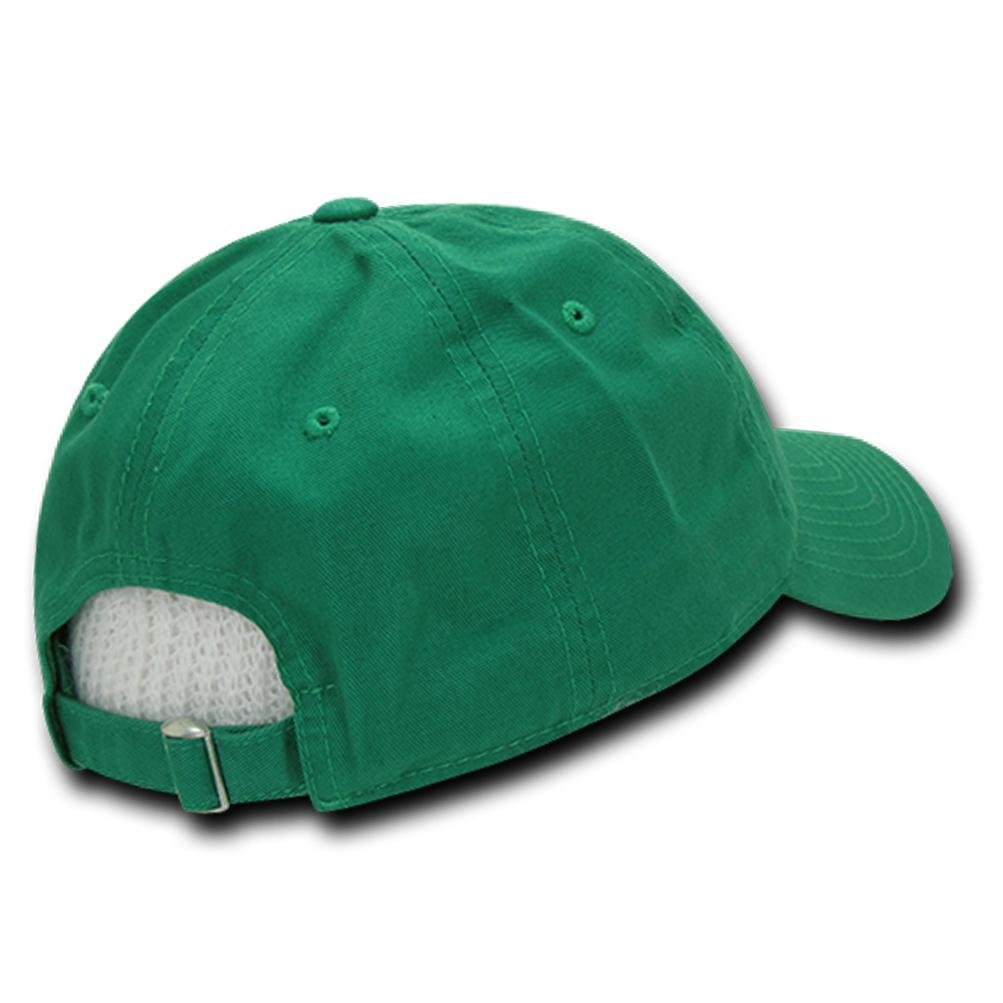 Custom Embroidery Baseball Cap Curve Unconstructured Cotton Dad Hat - Green by Caprobot iD (Image #2)