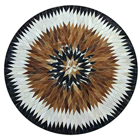 Amazon.com: SYCARPET Alfombra nórdica redonda de piel de ...