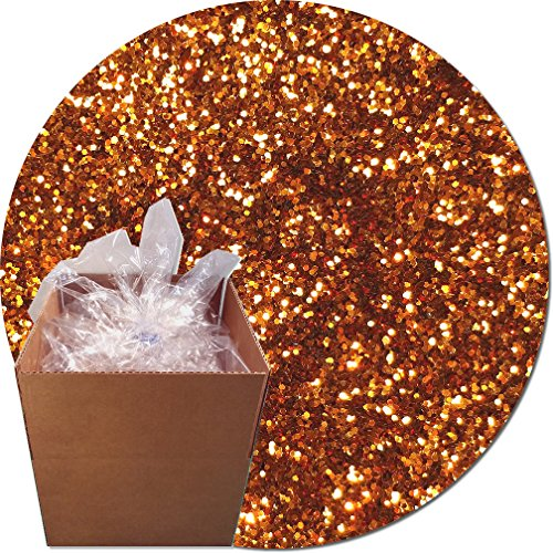 Glitter My World! Craft Glitter: 25lb Box: Coppered Orange by Glitter My World!
