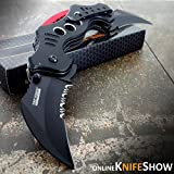 Cheap 10.25″ DUAL BLADE KARAMBIT SPRING ASSISTED TACTICAL FOLDING KNIFE Open Pocket