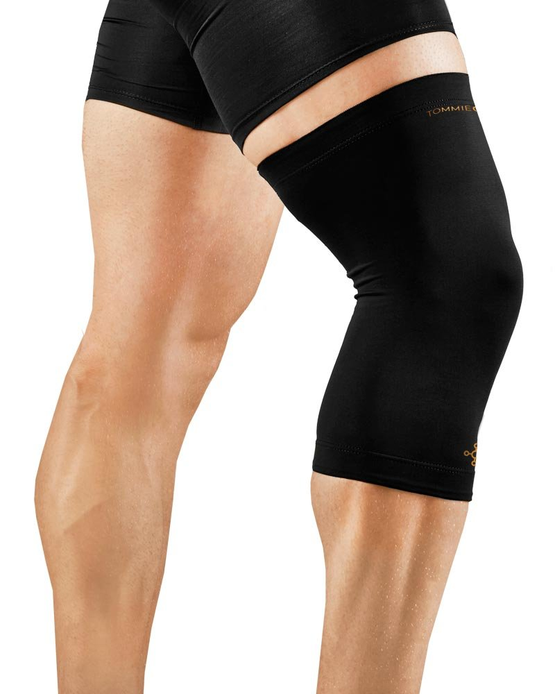 Tommie Copper Men's Recovery Refresh Knee Sleeve, Black, Small